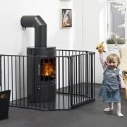 Babydan-Barrire-Pare-feu-Flex-XL-Noir-pour-ouvertures-de-90--278-cm-0-0