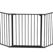 Babydan-Barrire-Pare-feu-Flex-XL-Noir-pour-ouvertures-de-90--278-cm-0