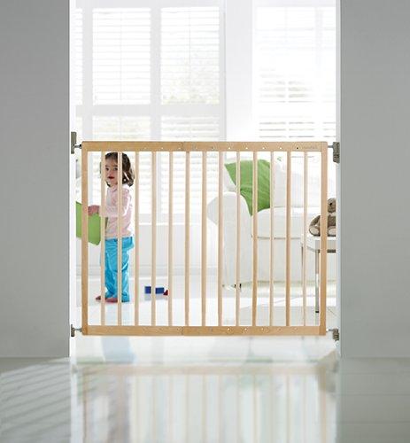 achat munchkin barri re de s curit extensible en bois barri re b b. Black Bedroom Furniture Sets. Home Design Ideas