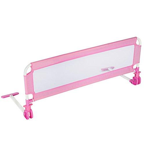 TecTake-Barrire-de-lit-pour-bb-enfant-systme-protection-portable-102cm-rose-0