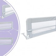 Leogreen-Barrire-de-Scurit-pour-Lit-de-Bb-Barrire-de-Scurit-Pliable-12-mtres-Gris-Matriau-Tissu-en-nylon-0