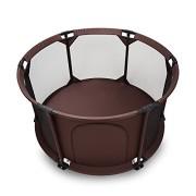 BABY-VIVO-Parc-Bb-Barrire-Scurit-Portable-Enfant-Protection-Porte-Panel-Espace-Jeu-Chambre-Flexi-Pliable-en-Brun-Rond-0-0
