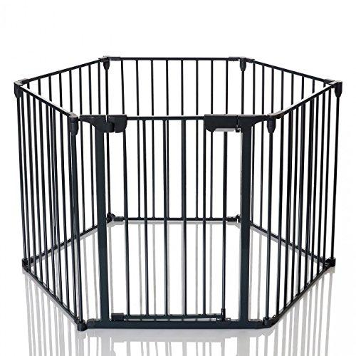 achat lcp kids barri re de s curit enfant grille protection chemin e feux parc bebe pliable. Black Bedroom Furniture Sets. Home Design Ideas