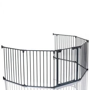 Lcp-Kids-Barrire-De-Scurit-Enfant-Grille-Protection-Chemine-Feux-Parc-Bebe-Pliable-Variant-5-Panel-1-Porte-0