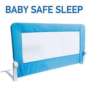 Tatkraft-Guard-Barrire-de-Lit-Bebe-Enfant-Pliable-pour-le-Sommeil-Scuritaire-Bleu-120X47X65cm-en-Acier-Plastique-Polyester-0