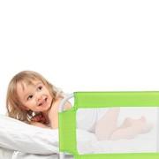 TecTake-Barrire-de-lit-pour-bb-enfant-systme-protection-portable-102cm-vert-0-0