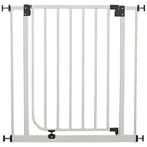 van-Hoogen-Easy-Fix-largeur-62-cm-71cm-avec-accessoires-jusqu--222-cm-Barrires-de-scurit-pour-porte-et-escalier-en-2-coloris-Hauteur-de-77-cm-Sans-perage-Qualit-suprieure-Escalier-bb-chien-BLANC-0