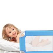 TecTake-Barrire-de-Lit-pour-Bb-Enfant-Portable-102cm-diverses-couleurs-au-choix-Bleu-0-0