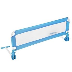 TecTake-Barrire-de-Lit-pour-Bb-Enfant-Portable-102cm-diverses-couleurs-au-choix-Bleu-0
