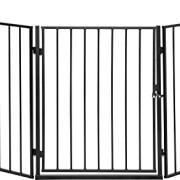 IB-Style-Barrire-de-Scurit-CATO-pour-chemine-en-acier-animal-fermer-zones-de-danger-couleur-NOIR-0