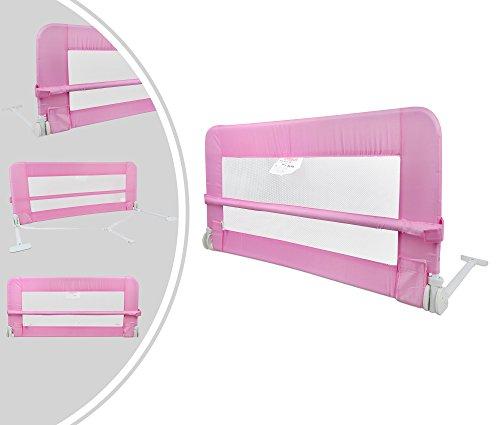 Leogreen-Barrire-de-Scurit-pour-Lit-de-Bb-Barrire-de-Scurit-Pliable-12-mtres-Rose-Matriau-Tissu-en-nylon-0