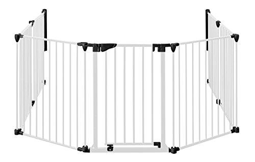 MARC-protection-chemine-190cm--430cm-hauteur-78-cm-avec-porte-4blanc-0