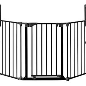 MARC-protection-chemine-190cm--430cm-hauteur-78-cm-avec-porte-3noir-0