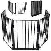 KIDUKU-Barrire-de-scurit-grille-de-protection-mtal-Parc-pour-enfants-Parc--bb-Grillage-Scurit-enfants-Longueur-de-300-cm-noir-0
