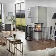 van-Hoogen--RONDO--Barrire-pour-chemine-6-tailles-190--490-cm-Hauteur-78-cm-5-couleurs-Utilisable-comme-cloison-protection-et-parc-pour-enfant-3noir-0-0