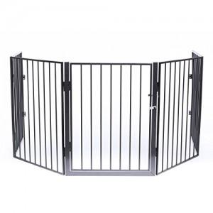 dibea-KG00499-Chemine-Grille-de-Quatre-Protections-avec-Porte-Longueur-Totale-300-cm-5-Pices-par-60-x-76-cm-0
