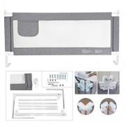 ZEHNHASE-Barrire-de-Lit-Enfants-Bbs-Protection-Bord-de-Lit-pour-Scurit-des-Enfants-Bbs-Portable-Bedrail-Safetyguard-180cm-Gris-1pc-0-0