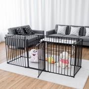 COSTWAY-Barrire-de-Scurit-Enfant-Clture-de-Chemine-en-Fer-Pare-Feu-de-Chemine-8-Pans-500x75cm-Noir-Noir-0-0