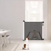 Leogreen-Barrire-de-Scurit-Bb-Barriere-Chien-pour-Escalier-et-Porte-Barrire-de-Scurit-Extensible-et-Enroulable-0cm-125cm-Systme-de-Verrouillage-dune-Main-Installation-Facile-0-0